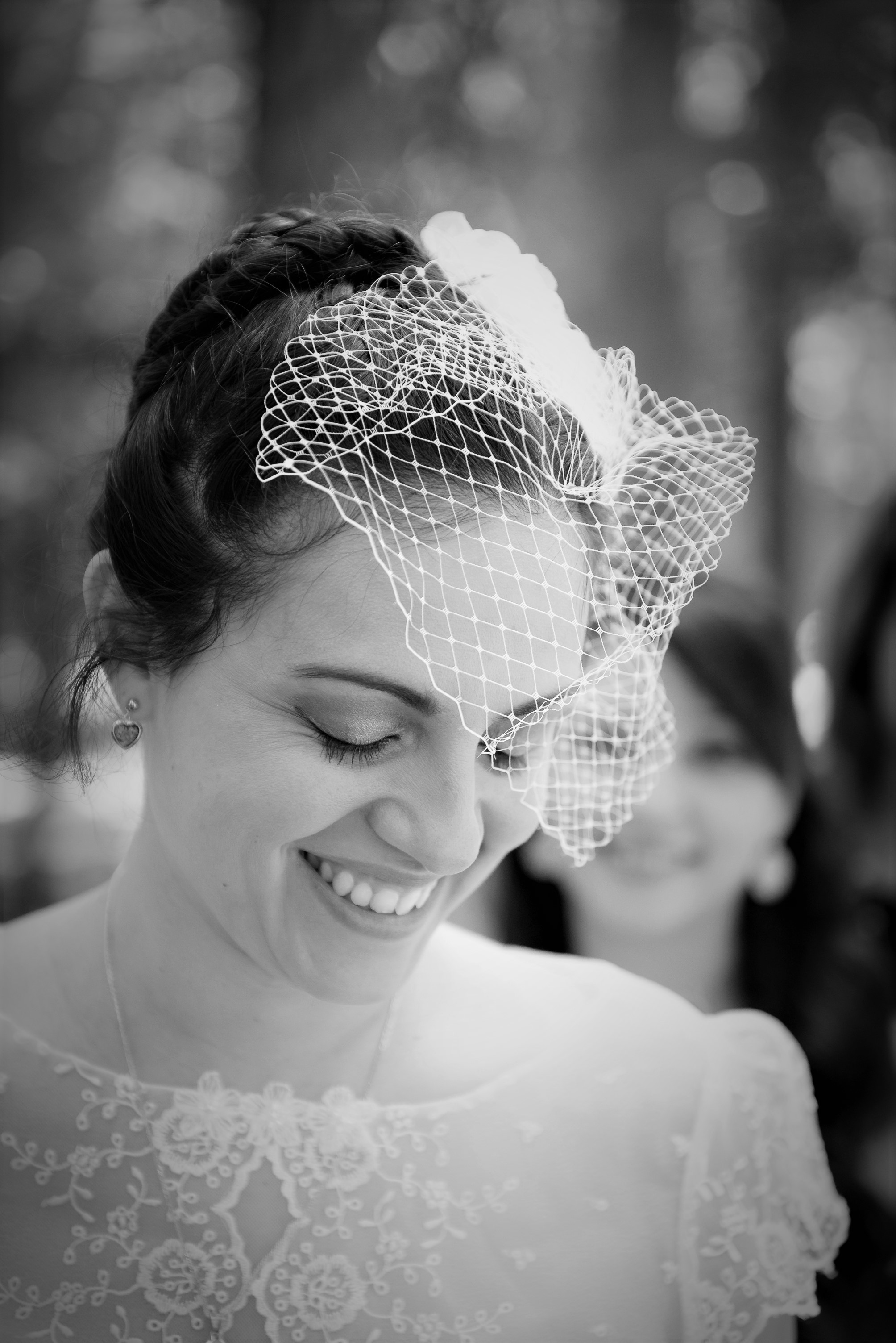 Close-up photograph of the bride.