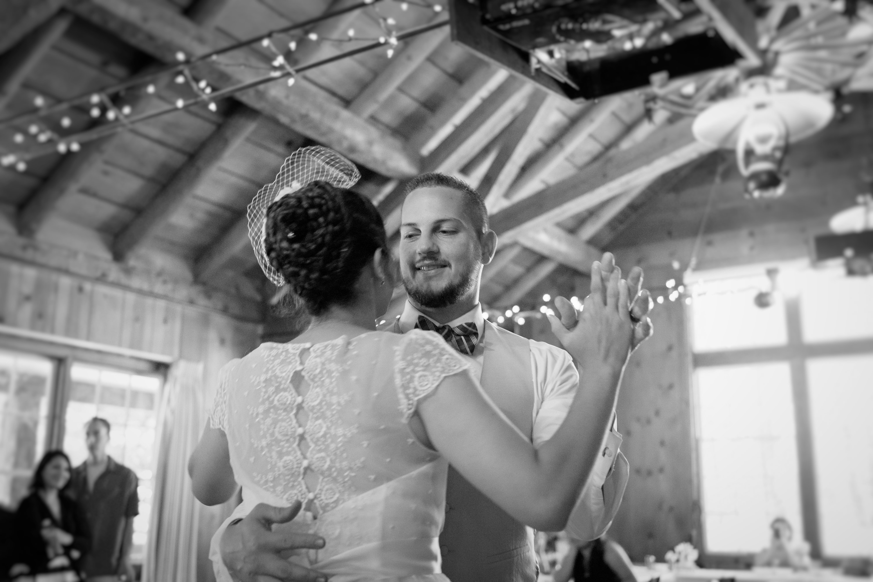 The Bride and Groom share their first dance.