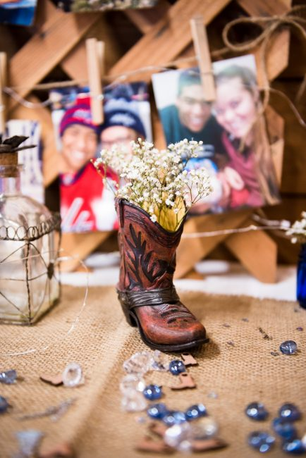 Country Wedding Boot Detail Shot