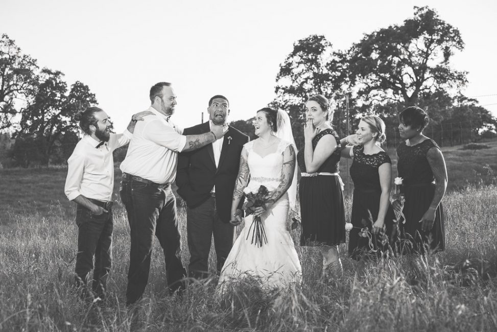 Silly bridal party photo.