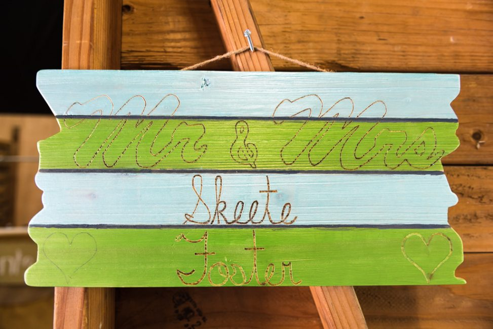 Sheete Foster Wedding SIgn