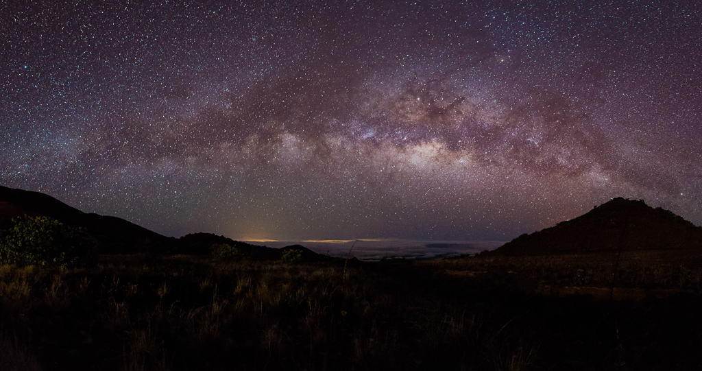 A starscape featuring the milkyway as captured near the Maunakea Visitor Information Station.