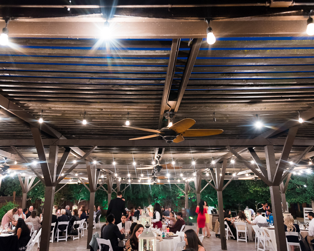 Photograph of a wedding reception at the Crooked Vine Vineyard,
