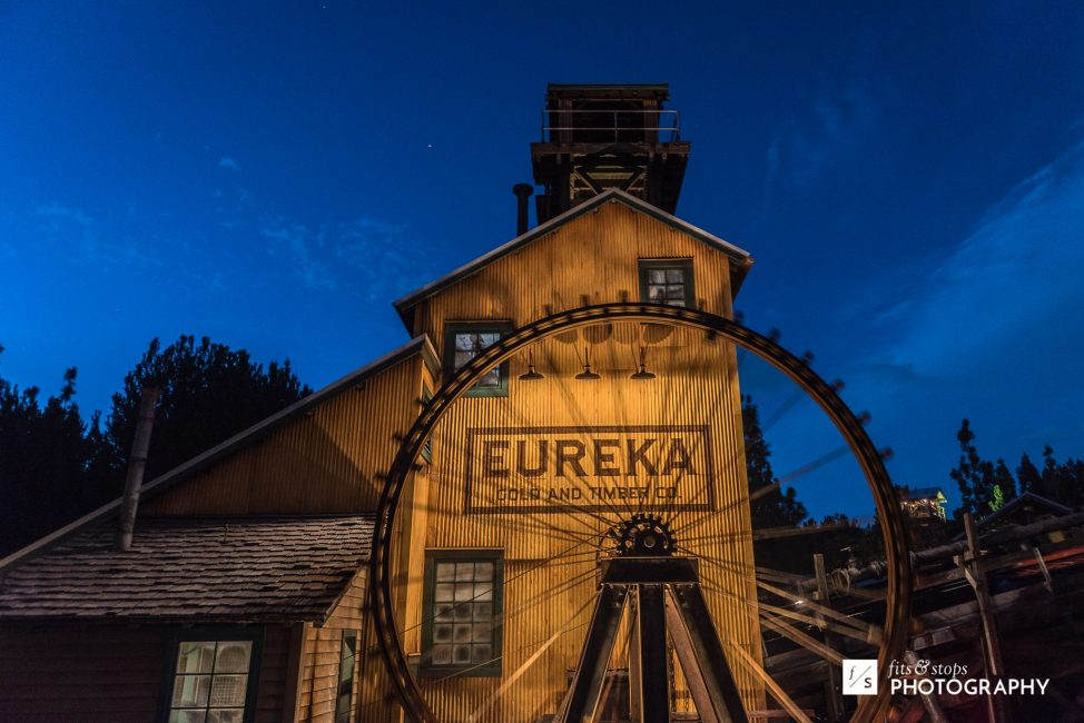 Photography of a waterwheel and mill in California Adventure theme park.
