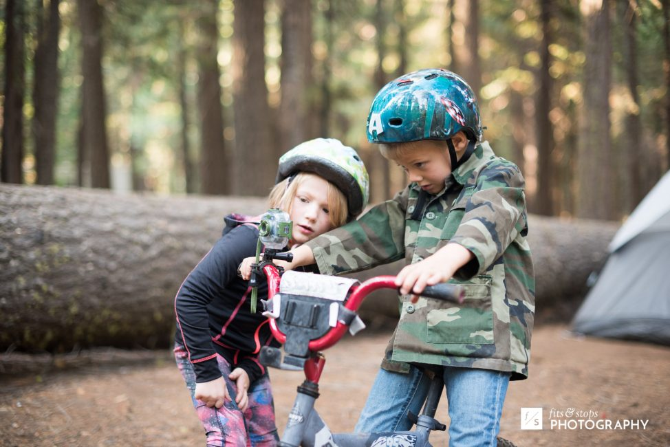 ...only biking now includes a GoPro for kids. Kids these days!