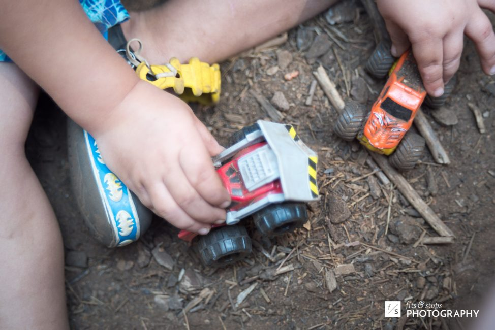 Ashton spent most of his waking hours down in the dirt. Can you blame him, with toys like these?