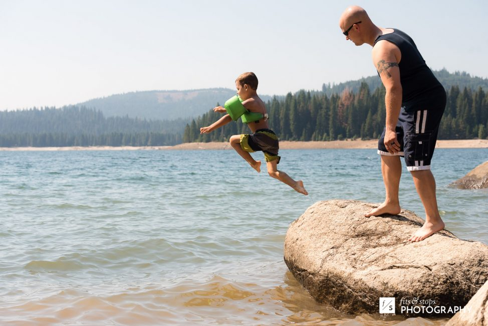 Max perfected his rock jumping form.