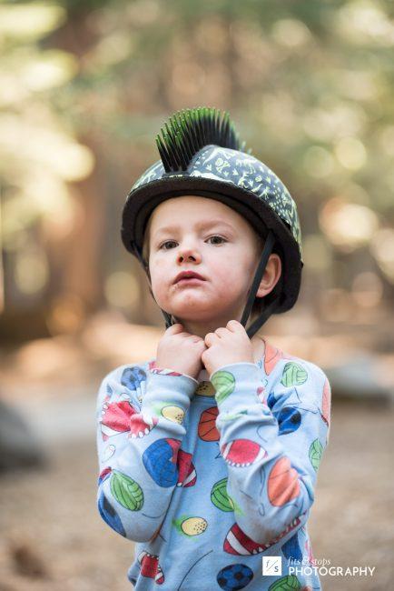 He felt much better as he slipped the spiky helmet on.