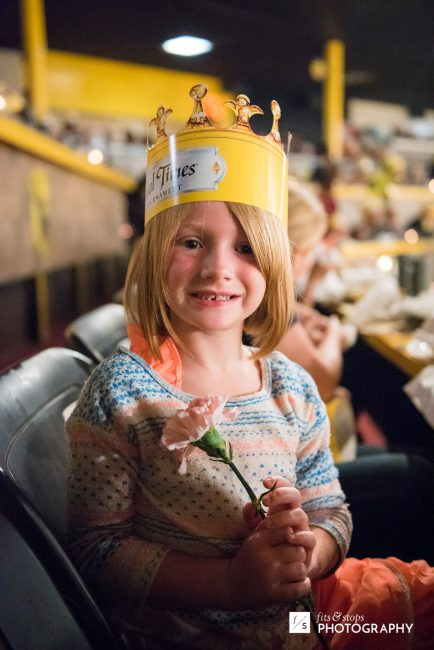 My daughter swooned after catching a flower bestowed by the Yellow Knight. She deserves a chivalrous gentleman...many years from now.