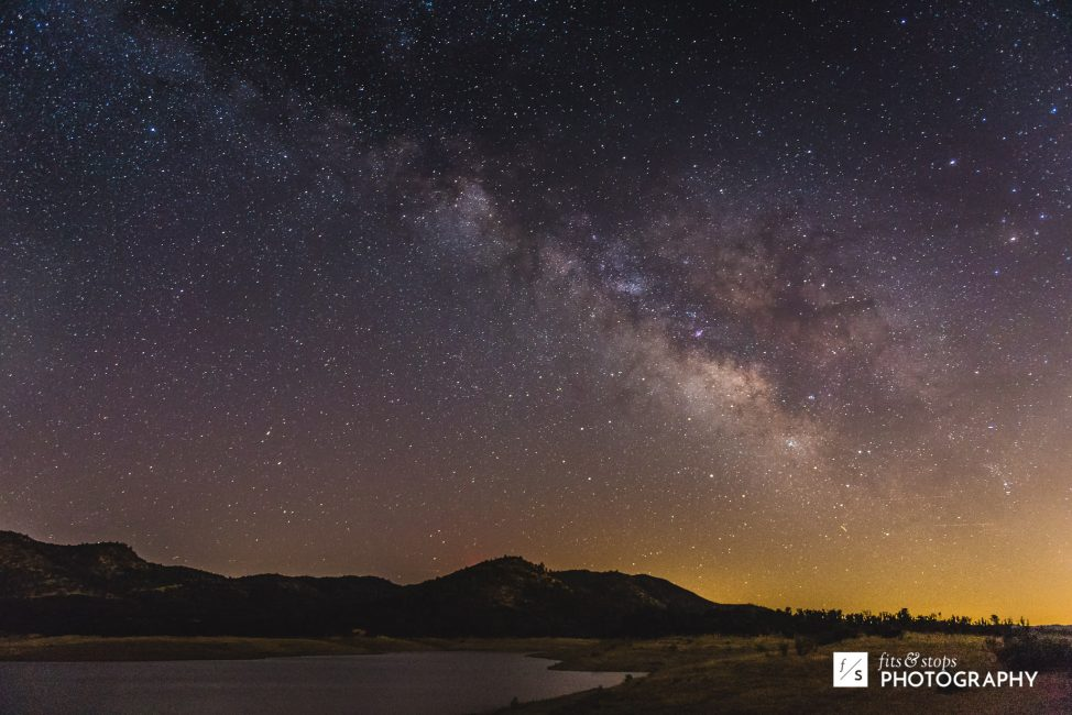 A single photo of the Milky Way over New Lake Hogan